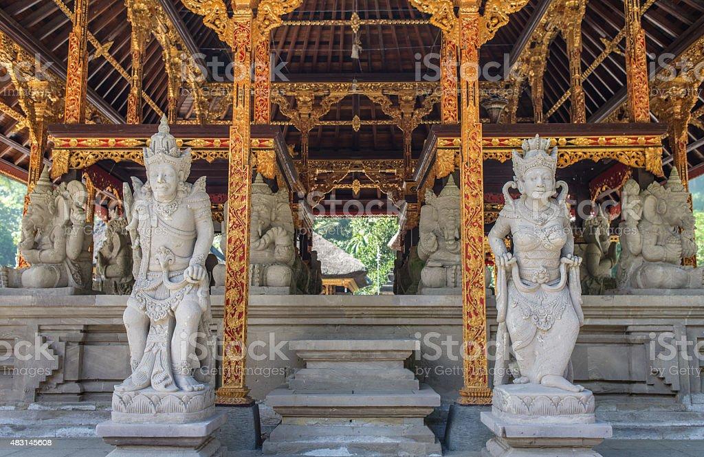 sculpture in tampak siring , Bali Indonesia stock photo