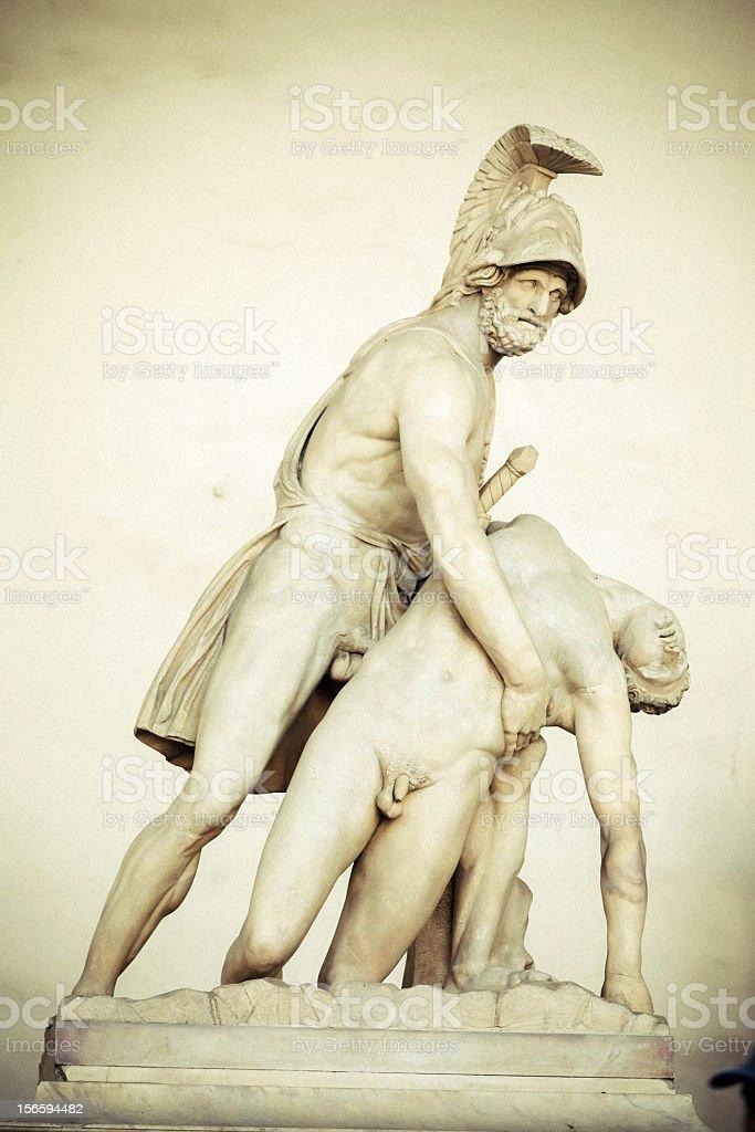 Sculpture in the Piazza della Signoria royalty-free stock photo