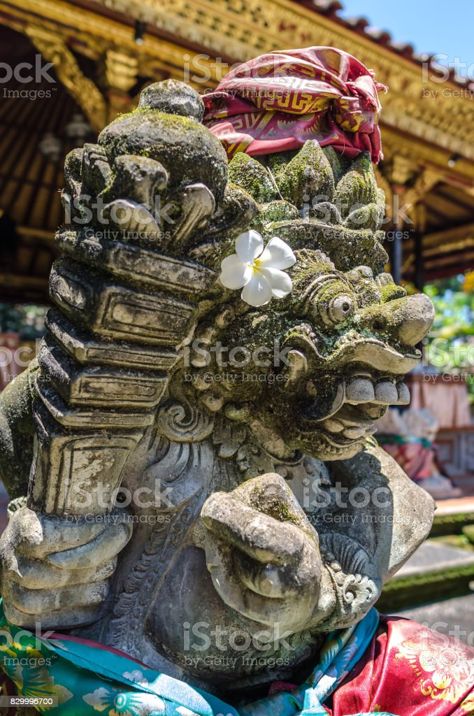 Sculpture in Ubud palace, Bali, Indonesia stock photo
