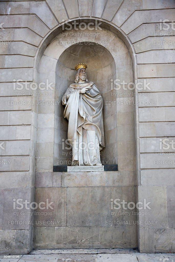 Sculpture Jaume El Conqueridor (King of Aragon) stock photo