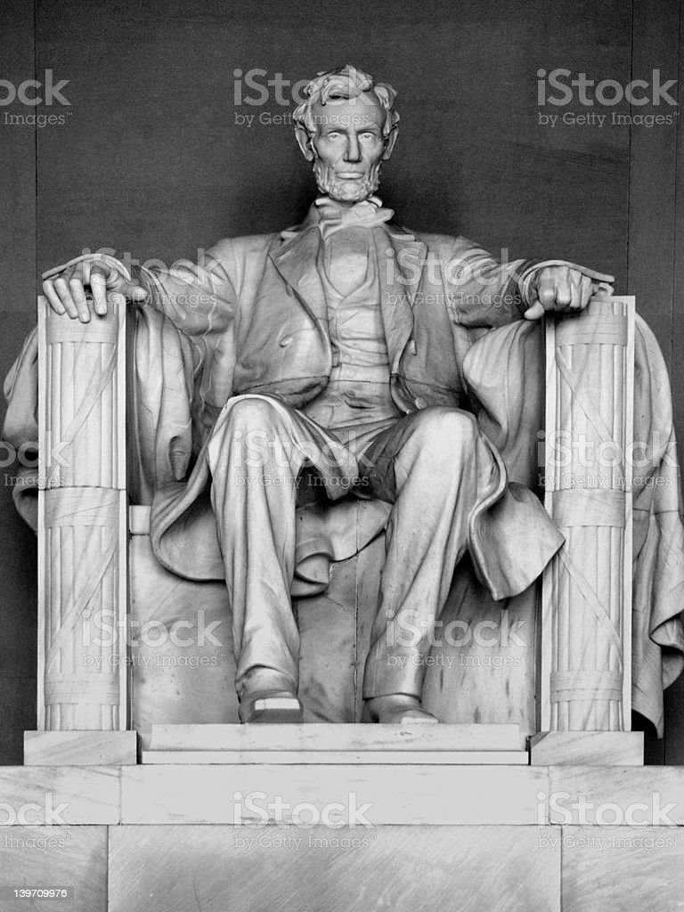 Sculpture of Abraham Lincoln royalty-free stock photo