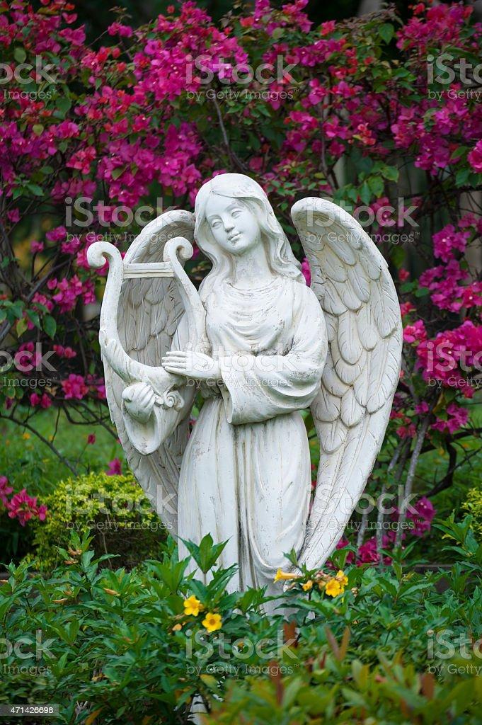 Sculpture of angel stock photo