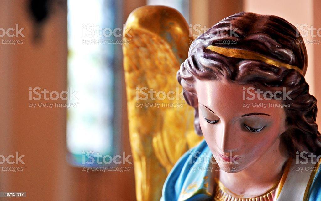Sculpture of Angle at Mother Mary Church at Chanthaburi, Thailand royalty-free stock photo