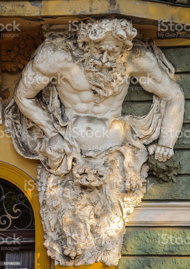 Sculpture of Atlas stock photo