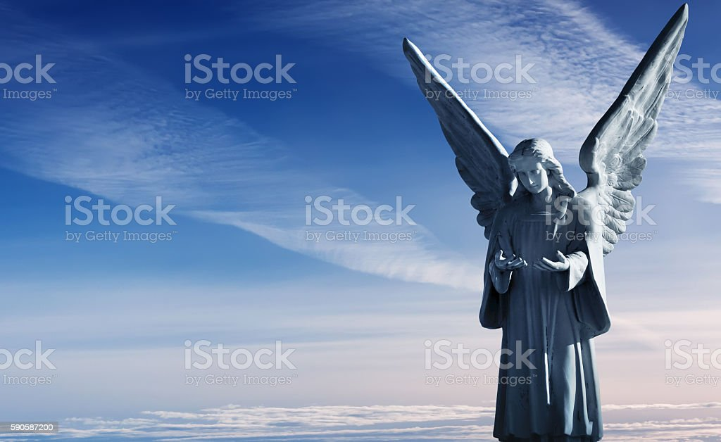 Sculpture of beautiful angel stock photo