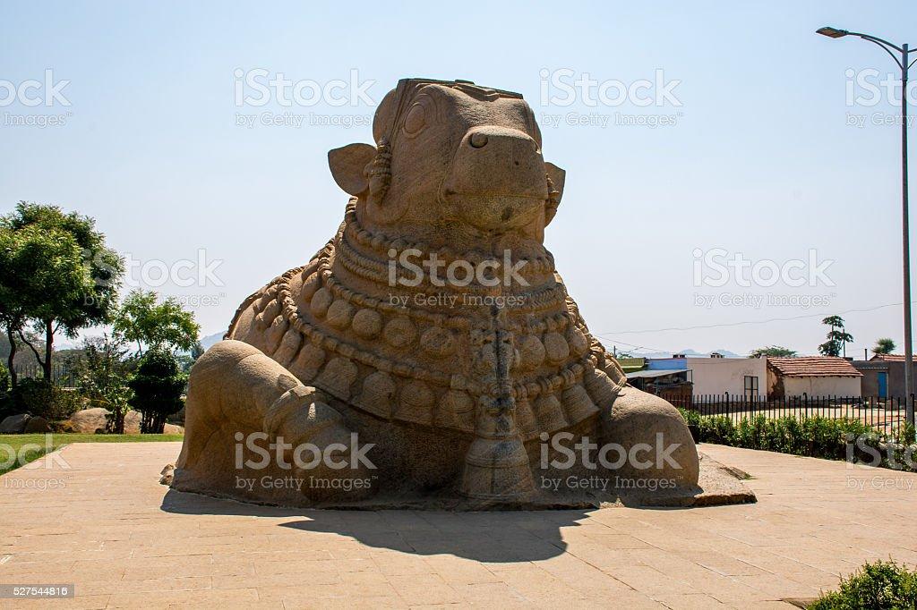 Sculpture Of Big Bull At Lepakshi, India stock photo