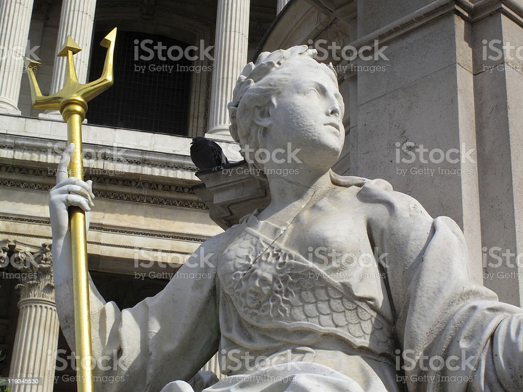 Sculpture Of Britannia At St Paul's Cathedral royalty-free stock photo