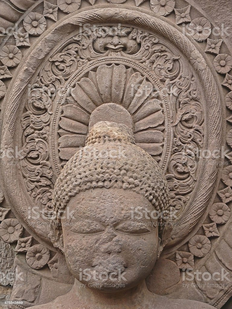 Sculpture of Buddha at temple Forty-five, 45 stock photo