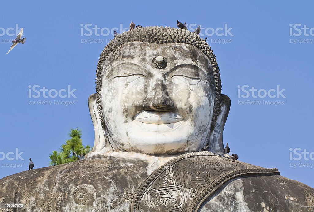 sculpture of buddha royalty-free stock photo