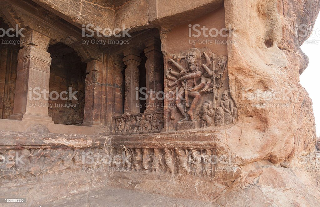 Sculpture Of Goddess On Wall royalty-free stock photo