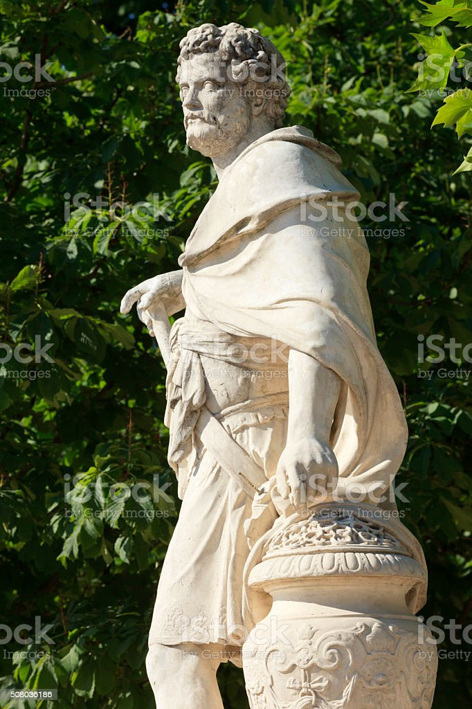 sculpture of Hannibal at the Jardin des Tuileries in Paris stock photo