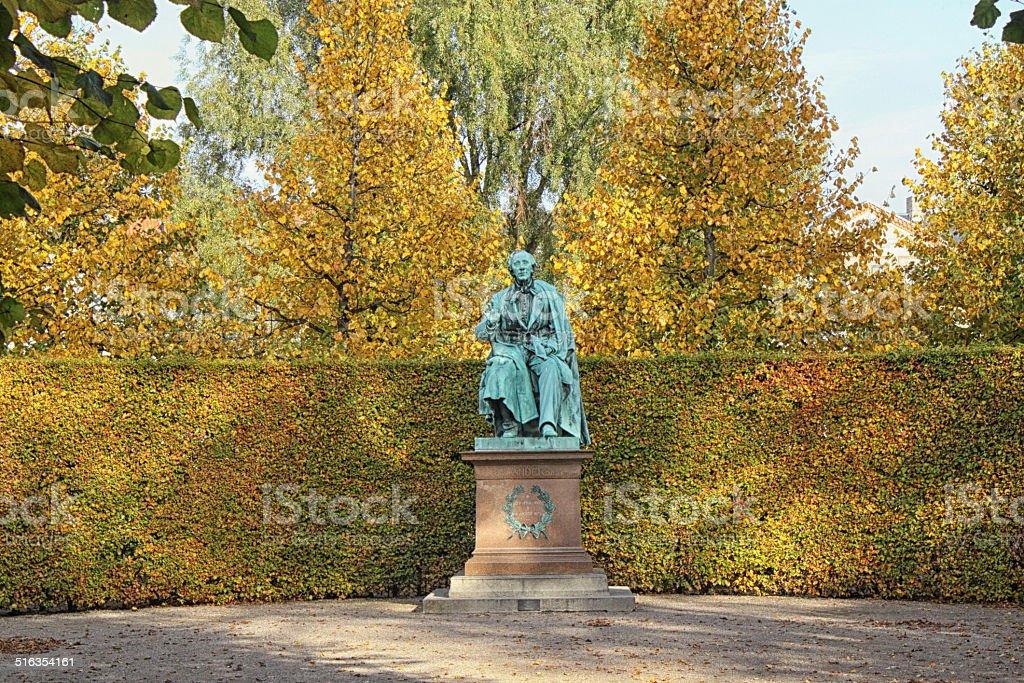 Sculpture of H.C. Andersen stock photo