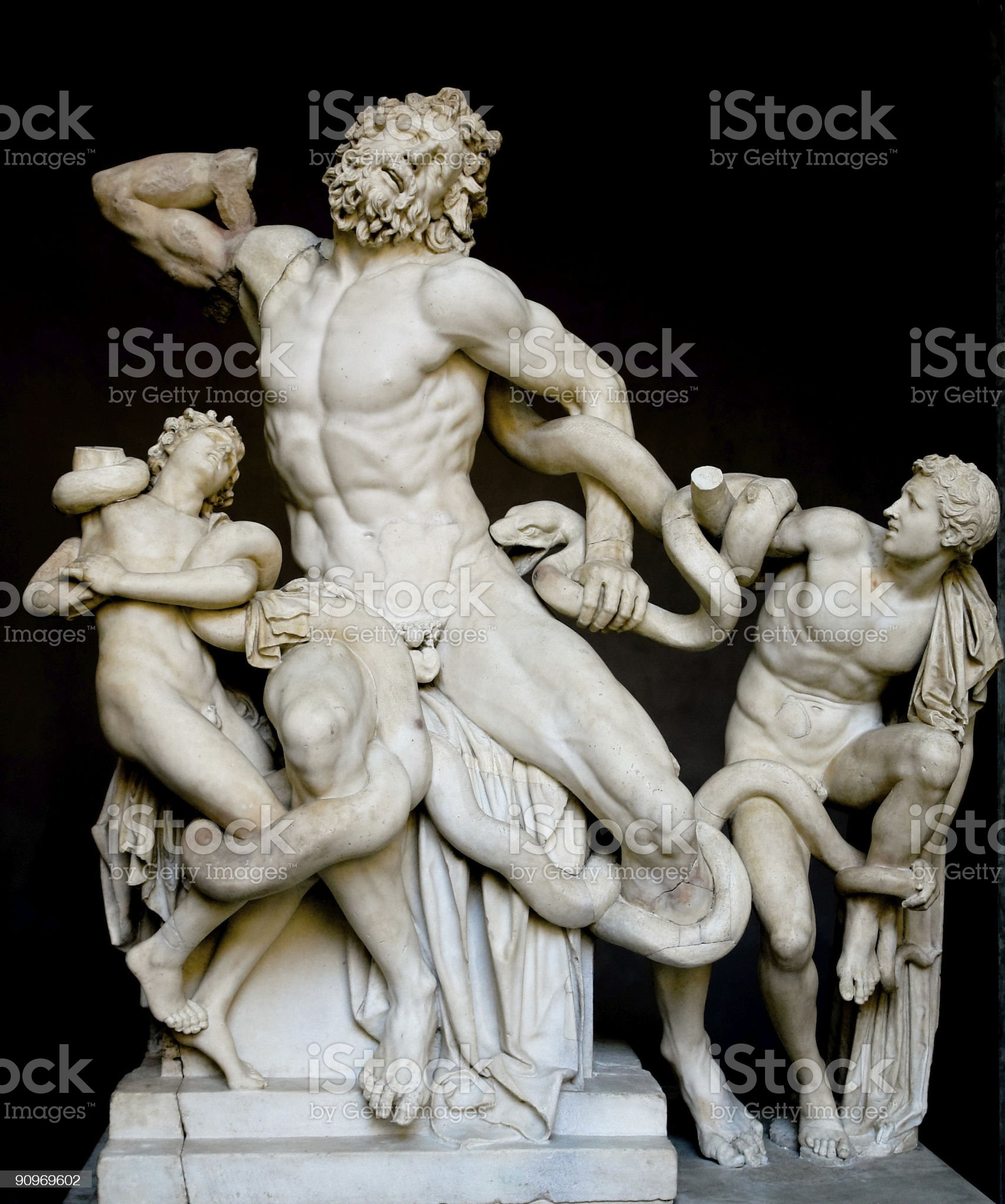 A sculpture of Laocoon and his son royalty-free stock photo