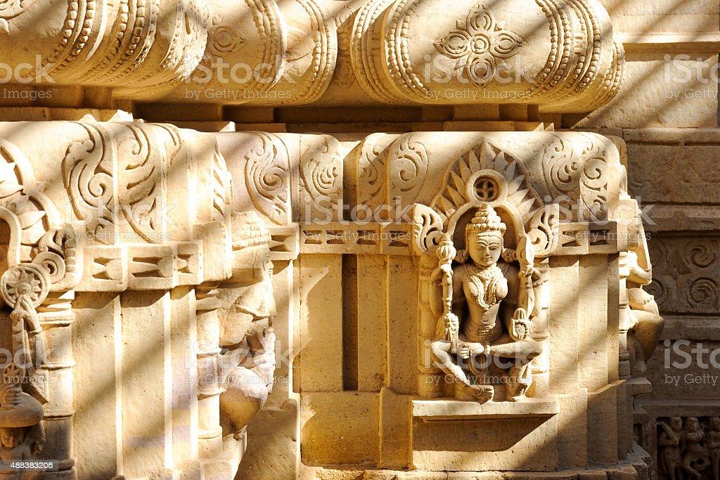 Sculpture of Narayana stock photo