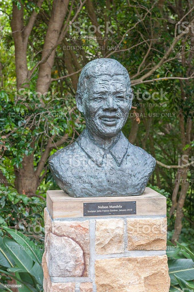 Sculpture of Nelson Mandela stock photo