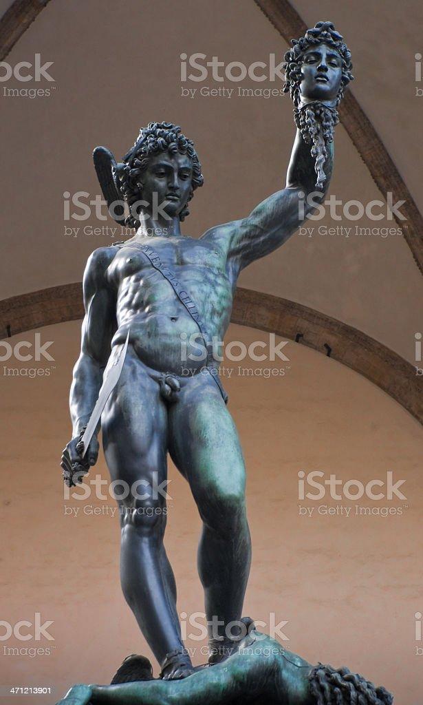 Sculpture of Perseus by Benvenuto Cellini from Piazza della Signoria royalty-free stock photo