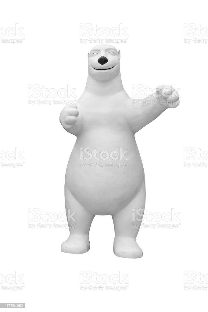 Sculpture of Polar Bear royalty-free stock photo
