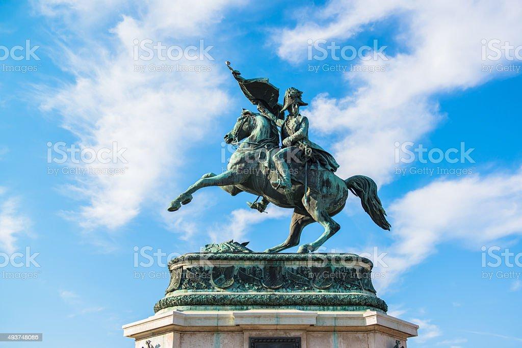 Sculpture of prince Eugene at Hofburg, Vienna stock photo