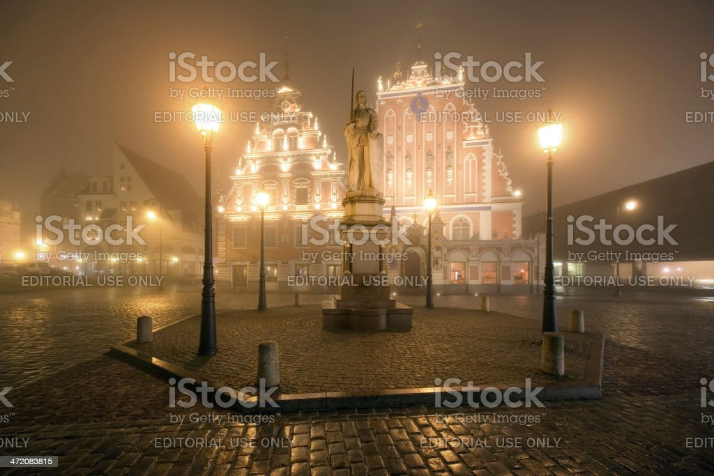 Sculpture of Roland in old city, Riga, Latvia stock photo