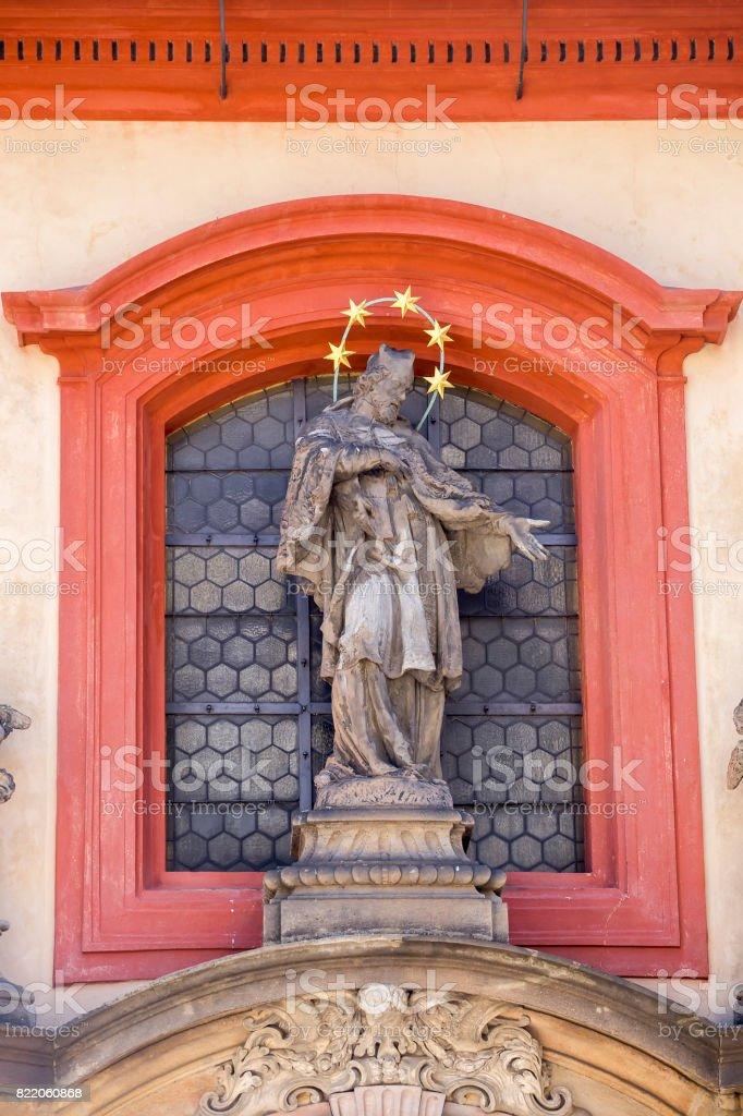 Sculpture  of St. John of Nepomuk stock photo