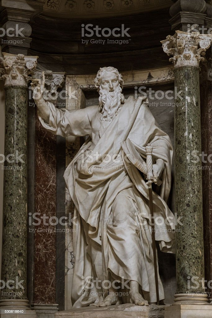 Sculpture of St. Paul stock photo