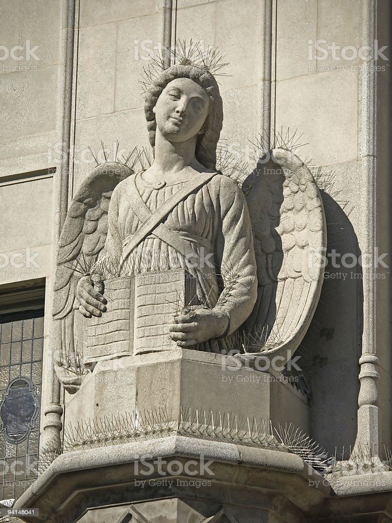 Sculpture of St. Peter & Paul Church in San Francisco royalty-free stock photo
