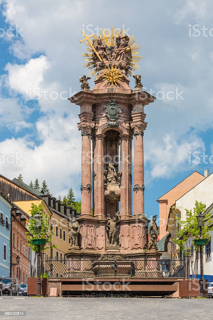 Sculpture of the Holy Trinity stock photo
