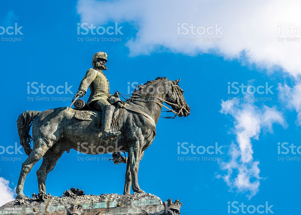 Sculpture of the King Alfonso XII stock photo