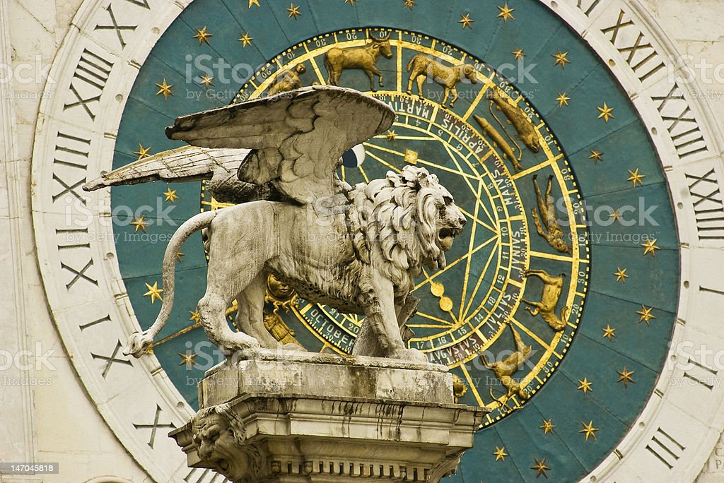 Sculpture of the San Marco Lion royalty-free stock photo