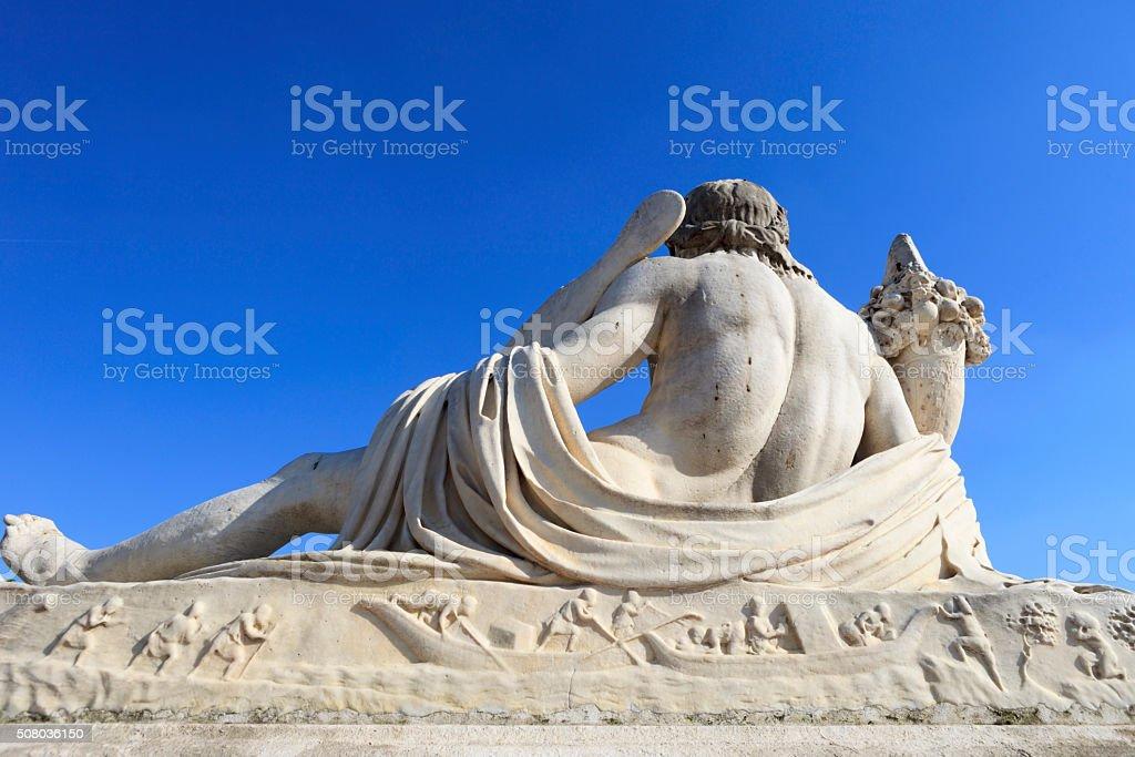 sculpture of The Tiber at Jardin des Tuileries in Paris stock photo
