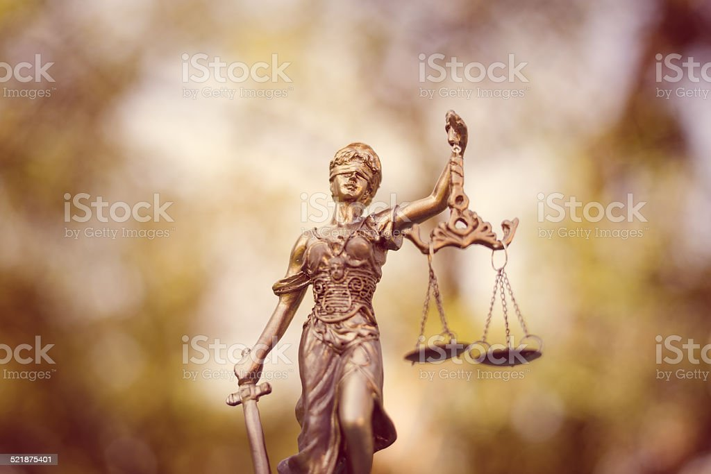sculpture of themis stock photo