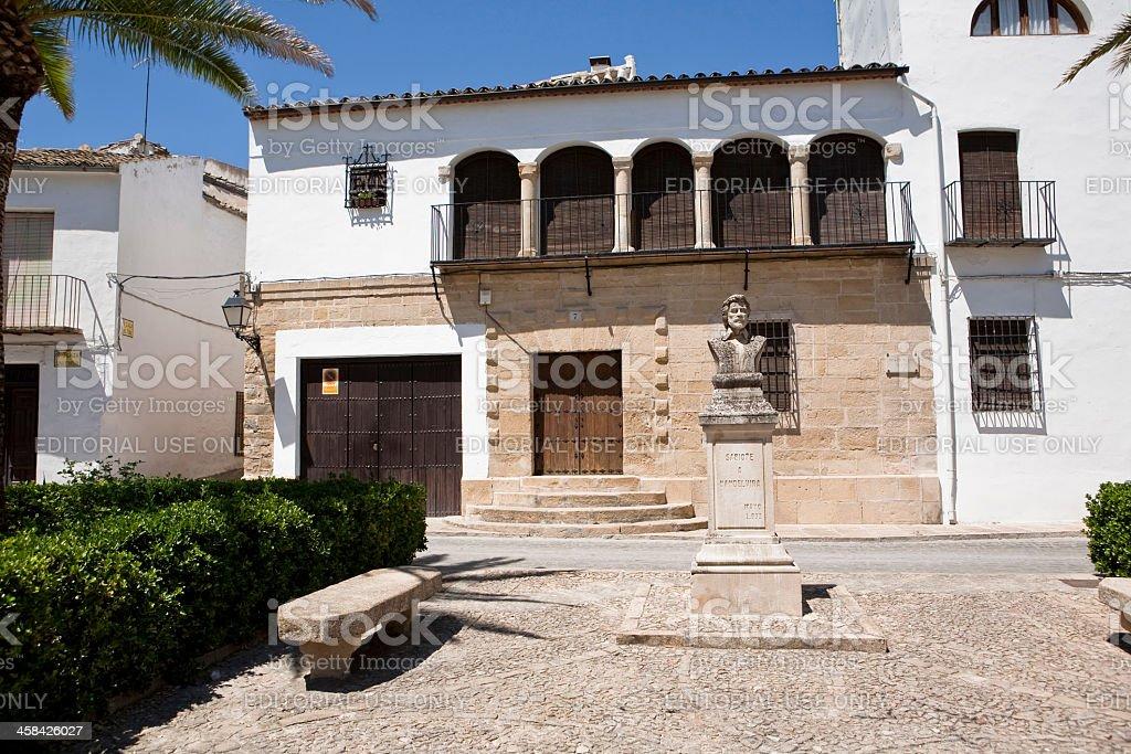 Sculpture of Vandelvira, Sabiote, Jaen, Spain stock photo