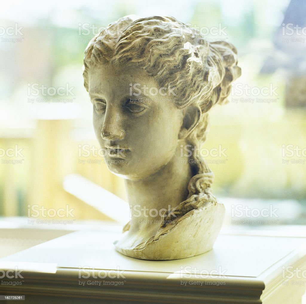 Sculpture of womans head royalty-free stock photo