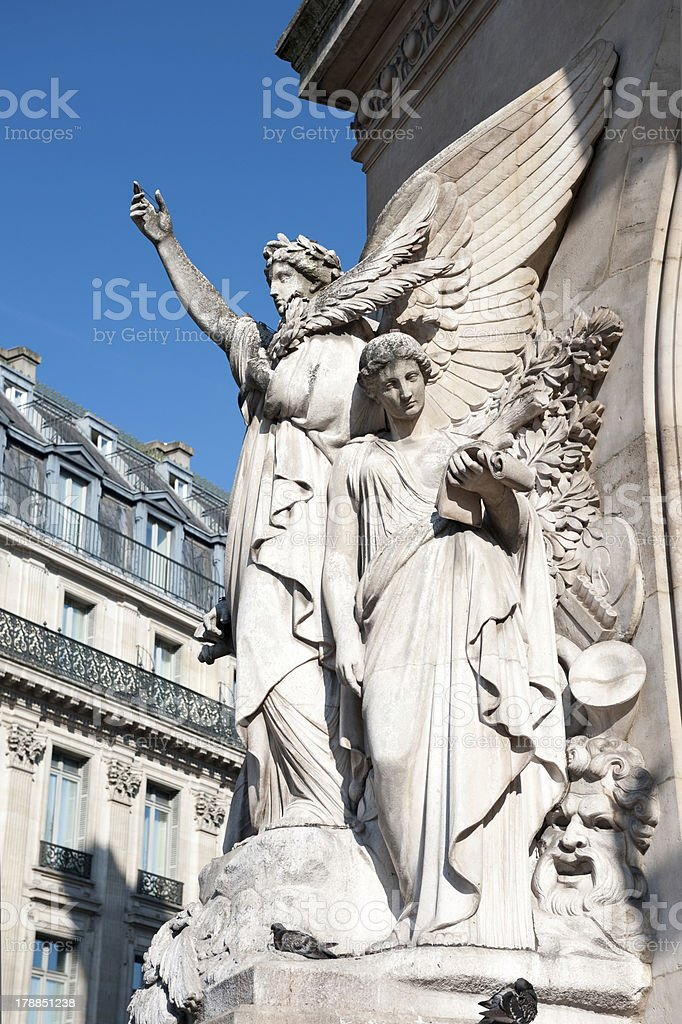 Sculpture on the facade of Paris Opera House royalty-free stock photo