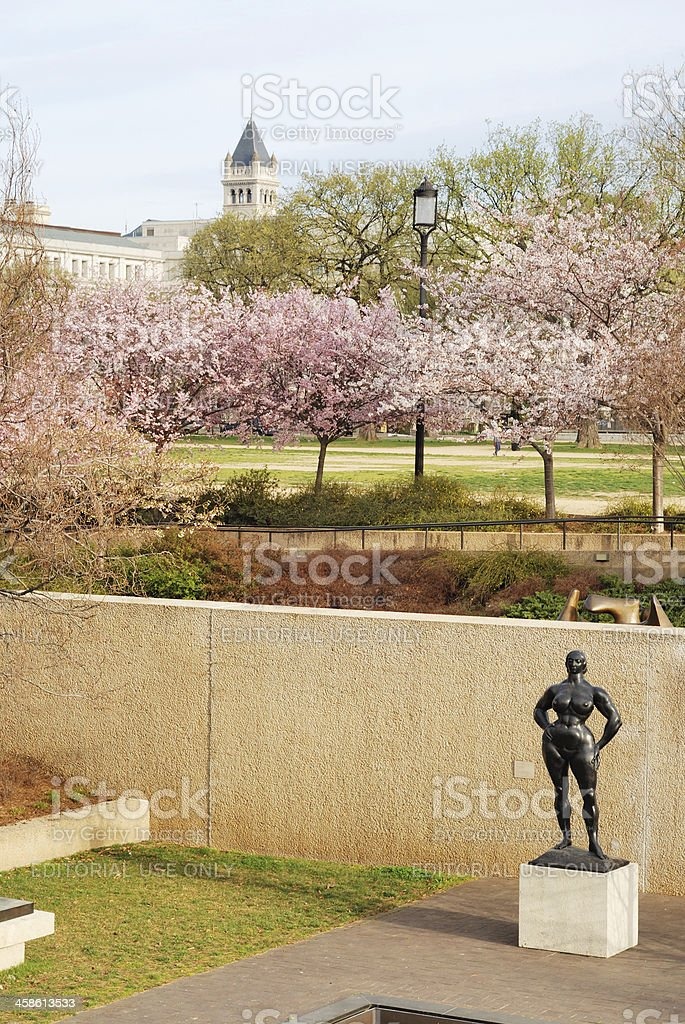 Sculpture on the Mall in Washington DC stock photo