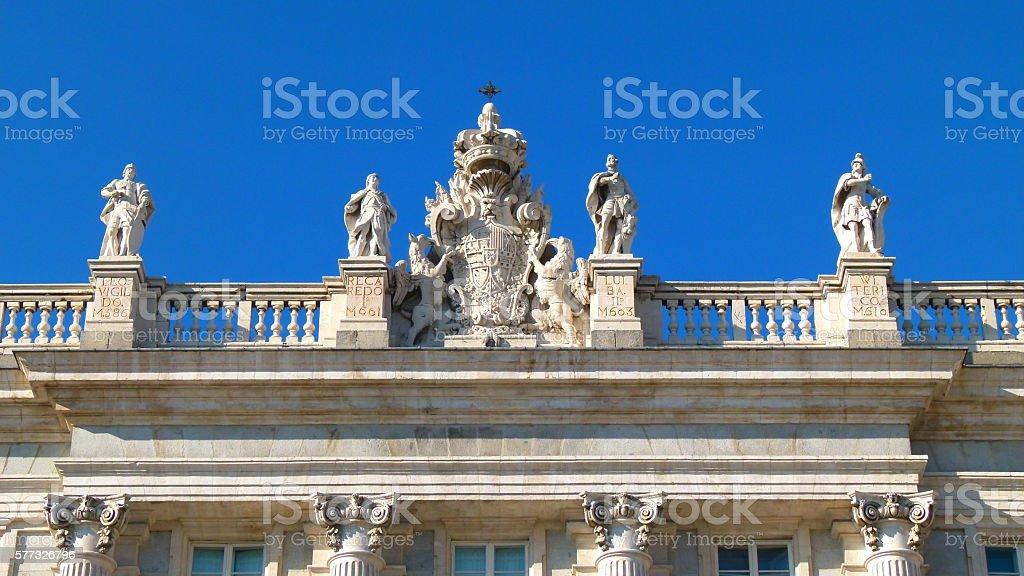 Sculpture (Palacio Real) stock photo