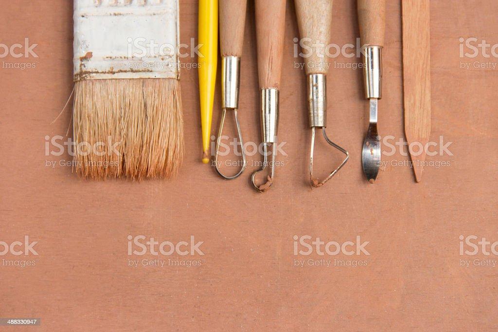 Sculpture Tools stock photo