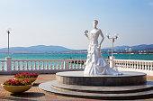 Sculpture White Bride of Gelendzhik in Russia