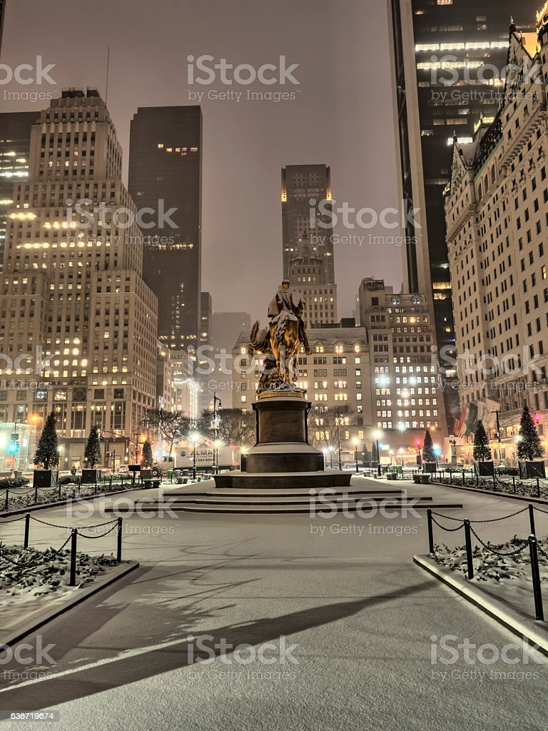 Sculpture William Tecumseh Sherman stock photo