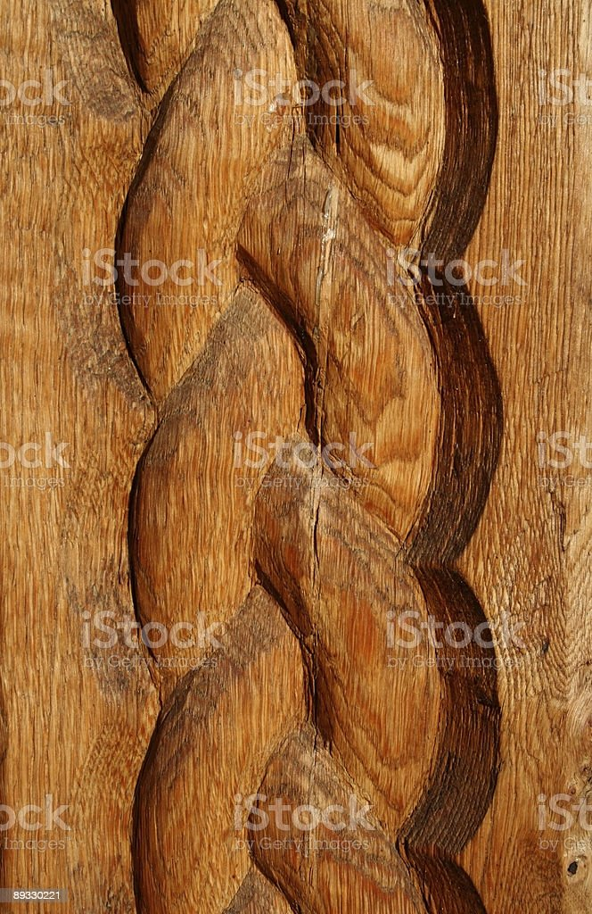 sculpture wood church pole royalty-free stock photo
