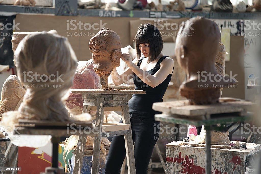 Sculpture Workshop stock photo