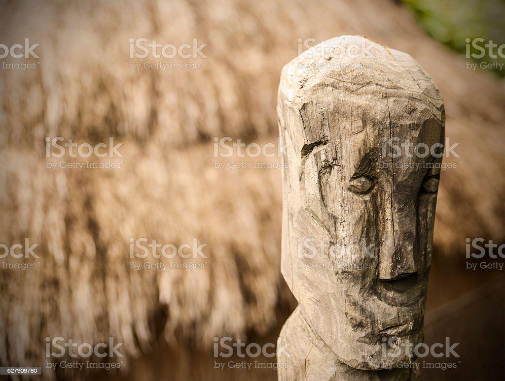 sculpture-bontoc-luzon stock photo