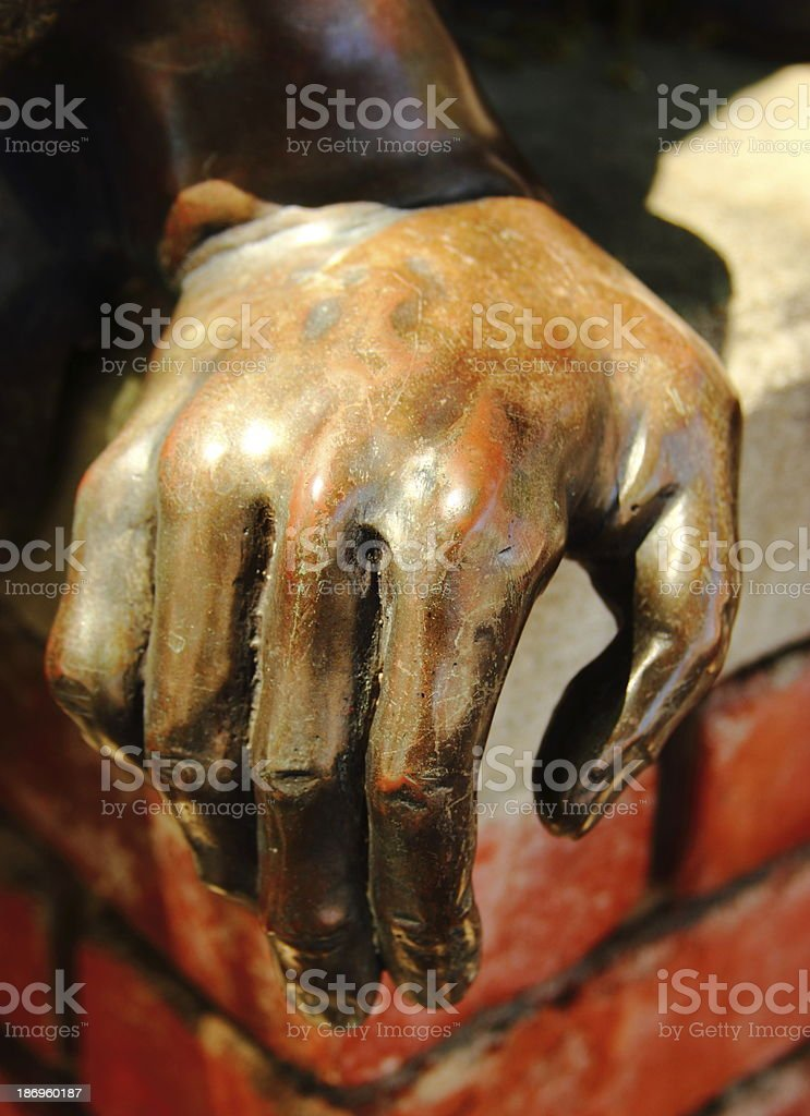 Sculptured Hand stock photo