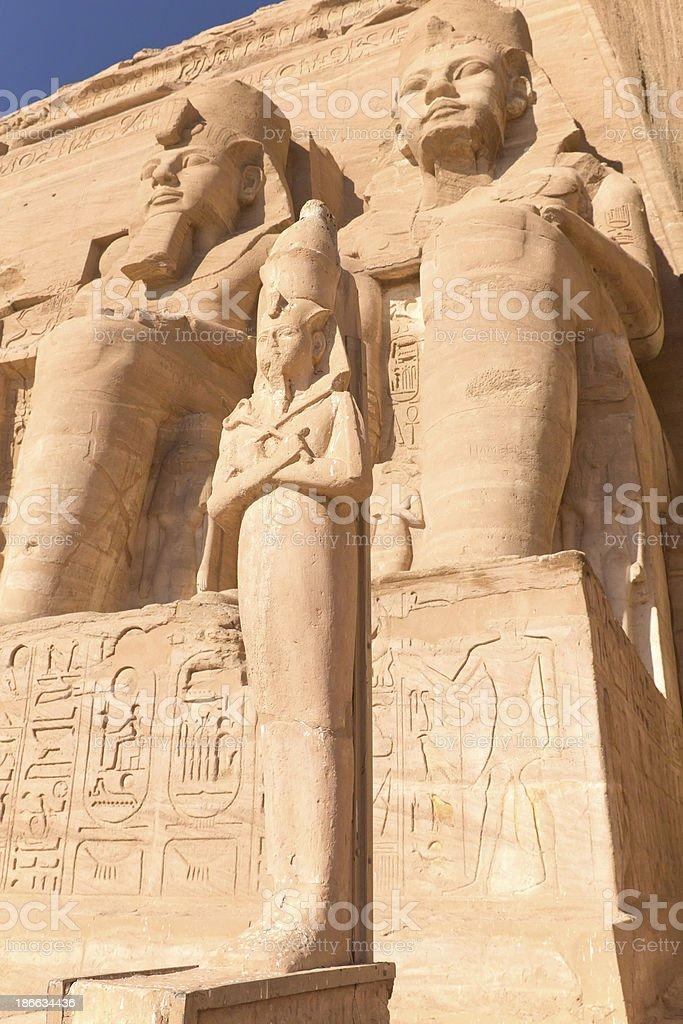 Sculptures at Abu Simbel Temple stock photo