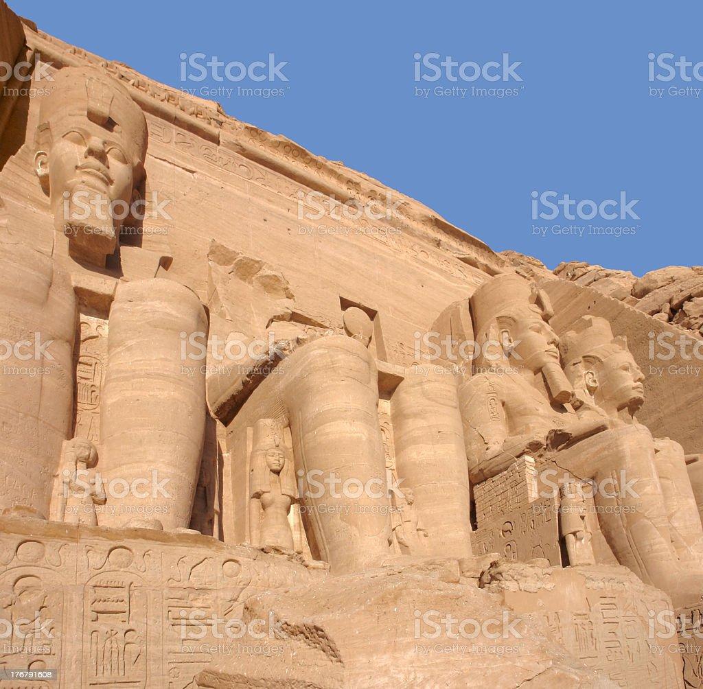 sculptures at Abu Simbel temples stock photo