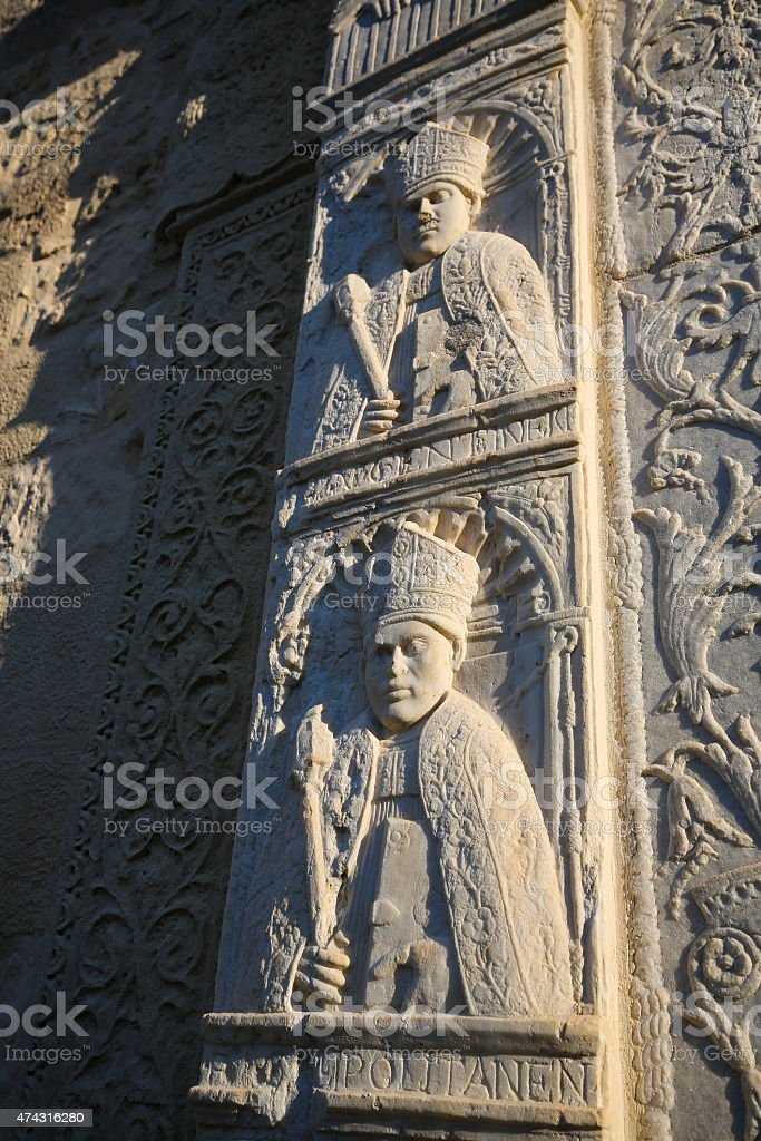 Sculptures at the Cathedral of Otranto, province of Lecce, Apuli stock photo