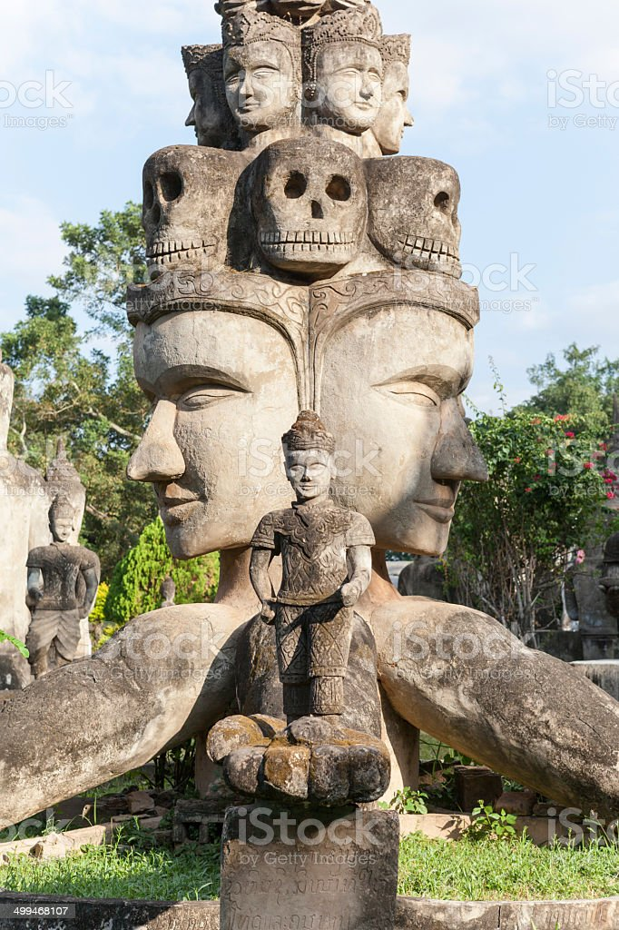Sculptures in Xieng Khuan stock photo