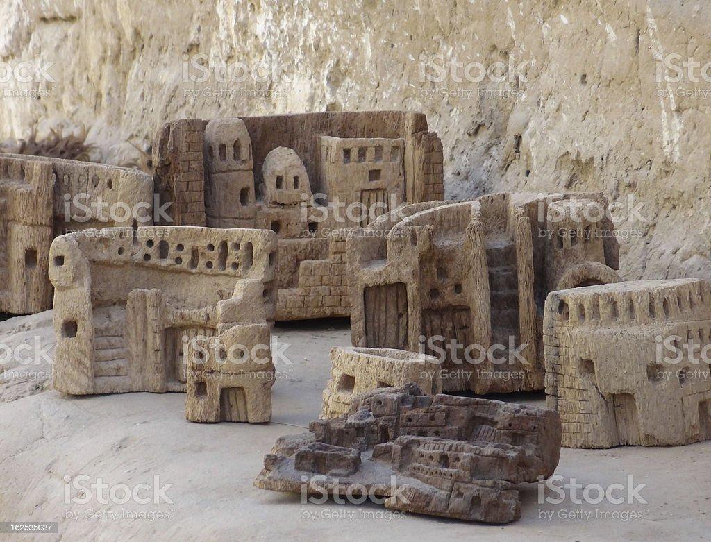 sculptures of Al-Qasr royalty-free stock photo