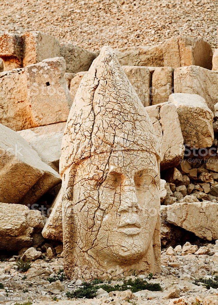 Sculptures of the Commagene Kingdom, Nemrut Mountain royalty-free stock photo