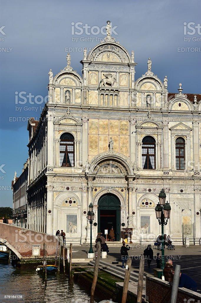 Scuola Grande di San Marco stock photo